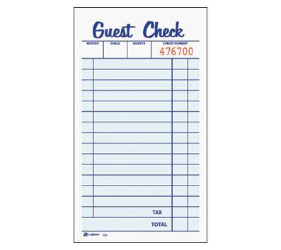 Adams Guest Checks - White/Canary, 50 Set/Book, 4 x 7, 2-Part ($9.79)