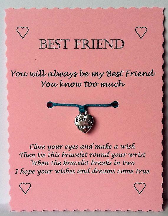 Best Friend Gift Friend Wish Bracelet Friendship Bracelet Best