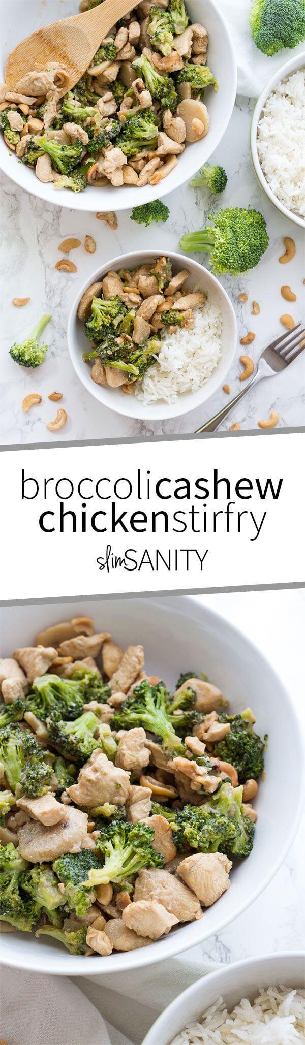 Broccoli Cashew Chicken Stir Fry  Recipe  Clean Eating -2675