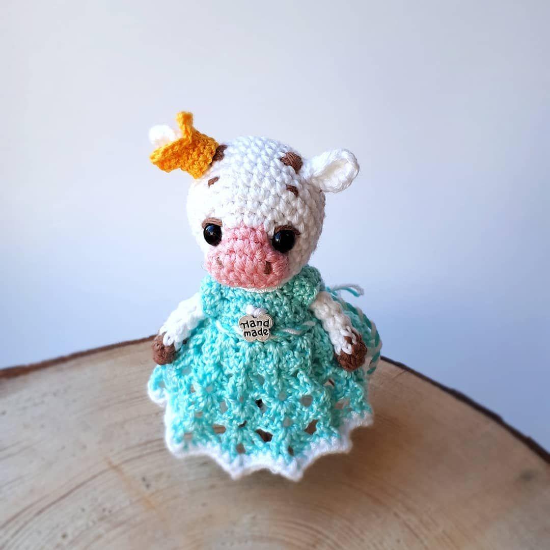 PDF Коровка крючком. FREE crochet pattern cow; Аmigurumi animal patterns. Амигуруми схемы на русском