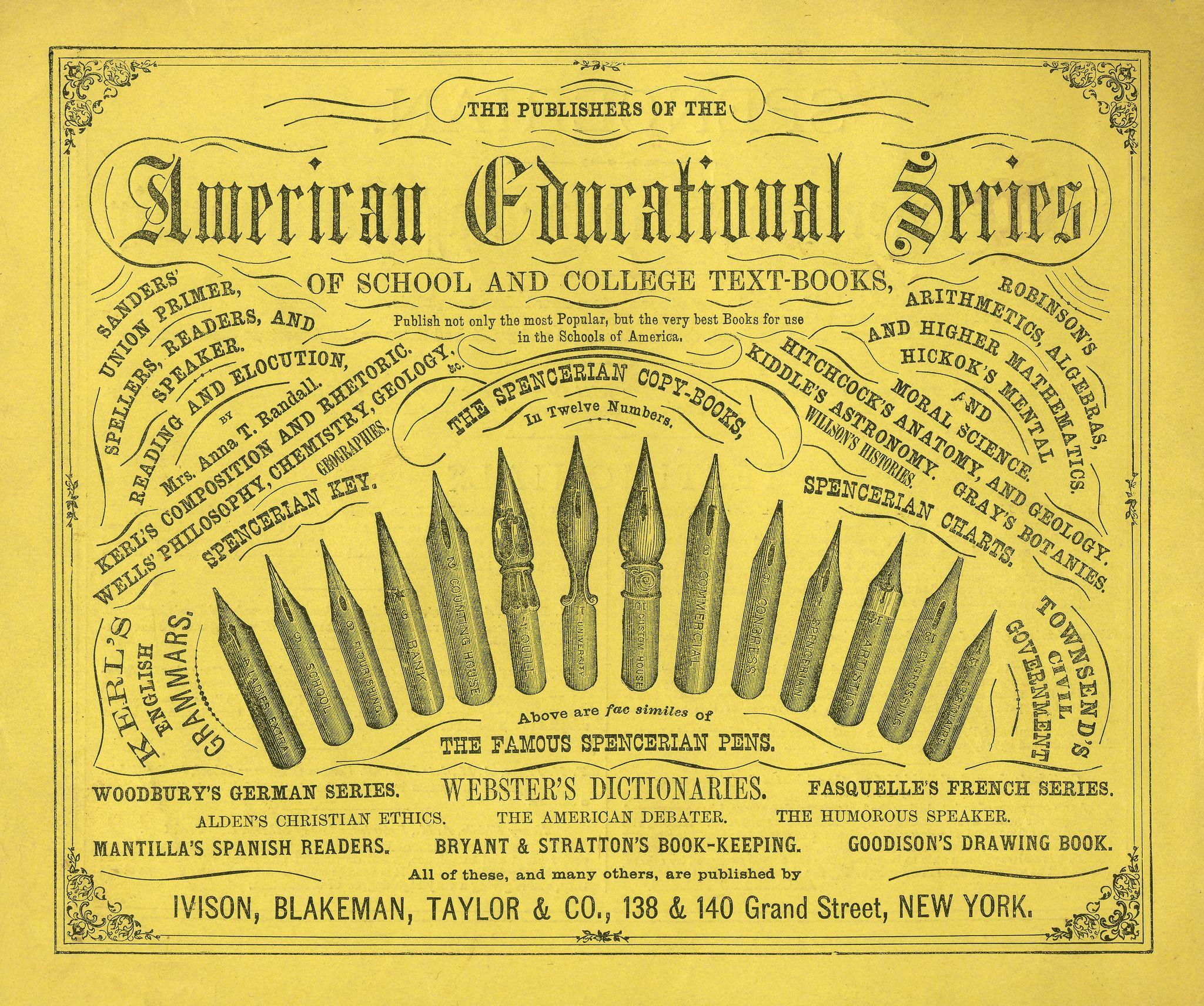 Spencerian Penmanship, c1864