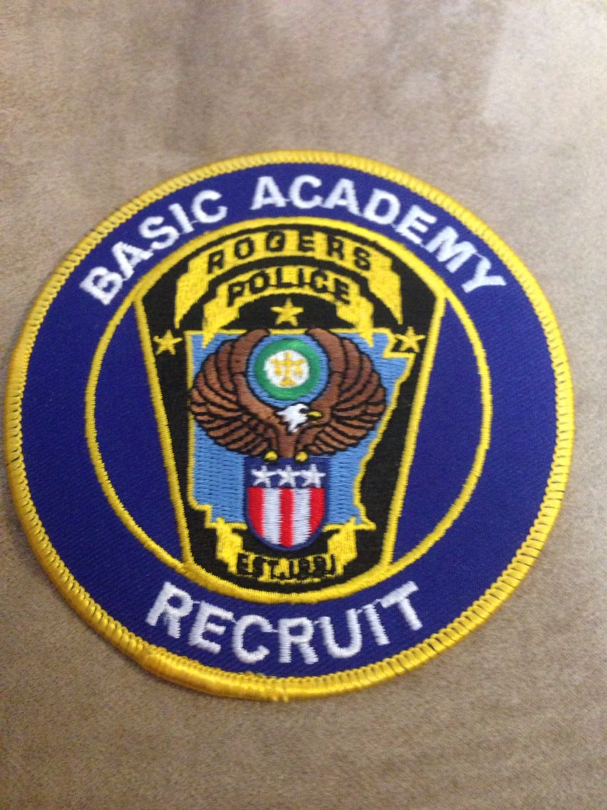 Rogers PD Basic Recruit Police badge, Team badge, Police