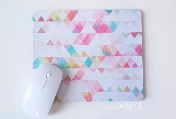Multicolor watercolor mouse pad by Little Hawthorne  Mouse pads are a fun, easy and economical way to decorate and express your personal style.
