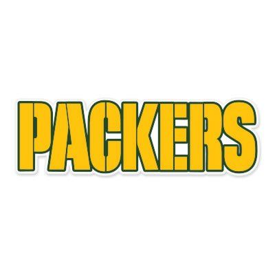 Green Bay Packers Logo Vinyl Sticker Decal *SIZES* Cornhole Truck Wall Bumper