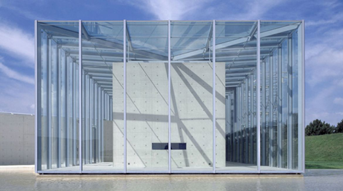 SG Curtain wall with glass louvres in a closed position.   Curtain ...