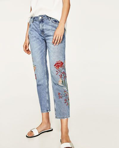 EMBROIDERED JEANS NEW IN MAN | ZARA India | Pantalones
