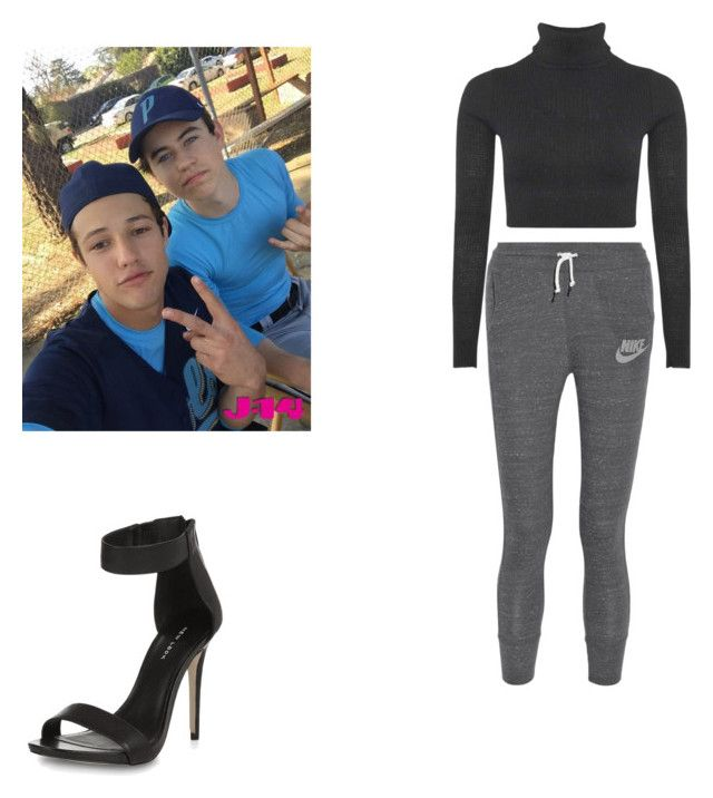 """""""On set with cash"""" by kayleyannelise ❤ liked on Polyvore featuring NIKE and Boohoo"""