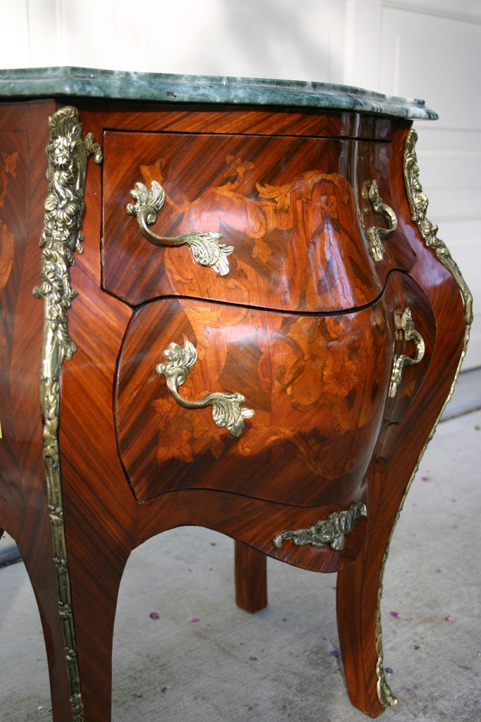 Louis XV style Bombe side table MEUBLES ANCIENS Pinterest Big