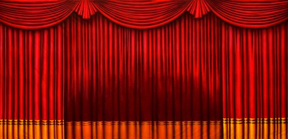 Red And Gold Drapes Gold Drapes Red Curtains Home Theater Curtains