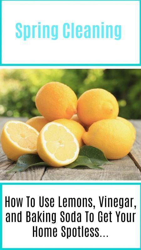 Use Lemons, Vinegar, andBaking Soda for Spring Cleaning #cleaning #springcleaning #home #ZelfShampooMakenBakingSoda