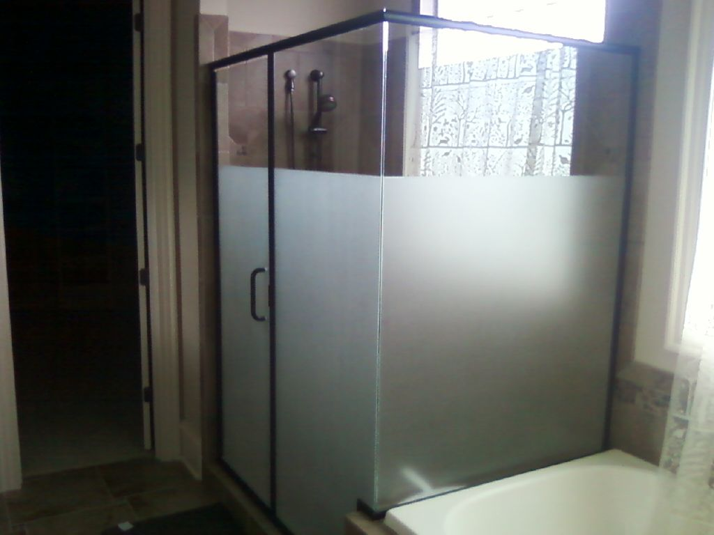 Use Frosted Window Films To Create Privacy On Gl Shower