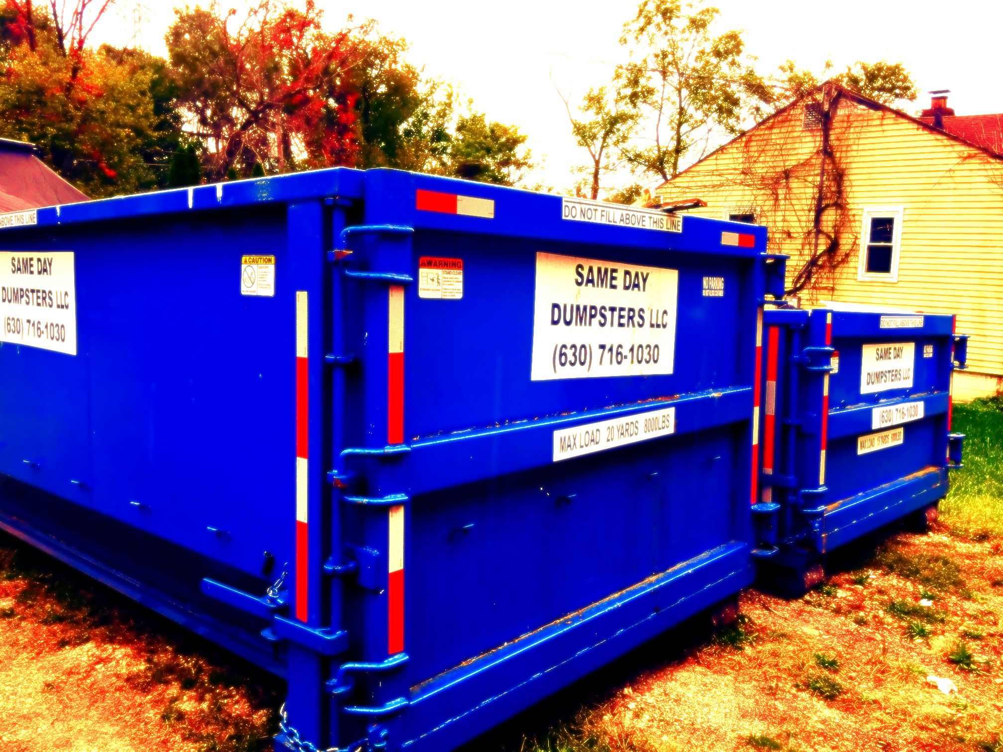 Need a dumpster today in the oak lawn area give us a call