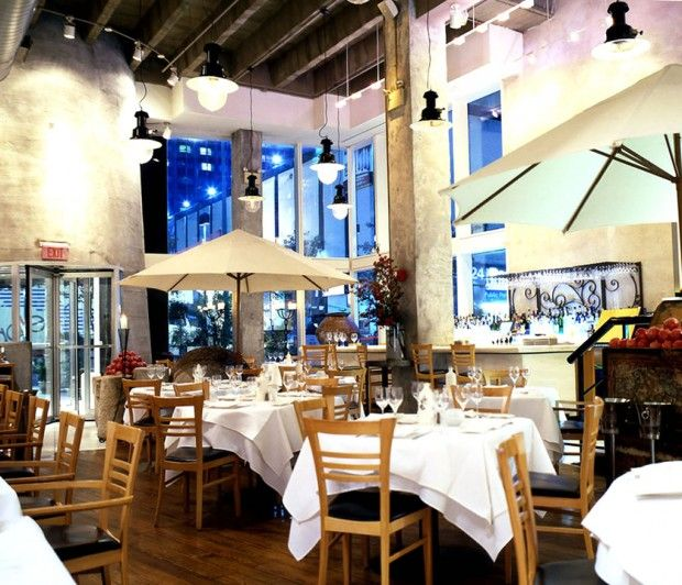 Greek seafood restaurant interior design of estiatorio