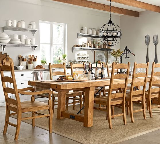Benchwright Extending Table & Wynn Chair Dining Set  Pottery Barn Beauteous Pottery Barn Dining Room Tables Decorating Design