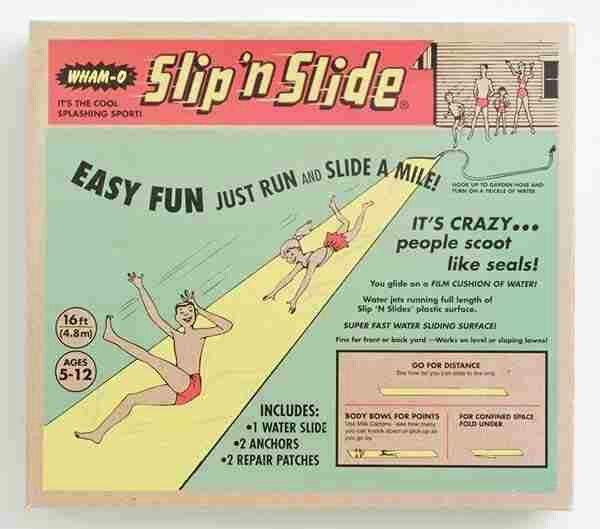 Ahh the slip and slide.  The most effective way to launch yourself into the fence