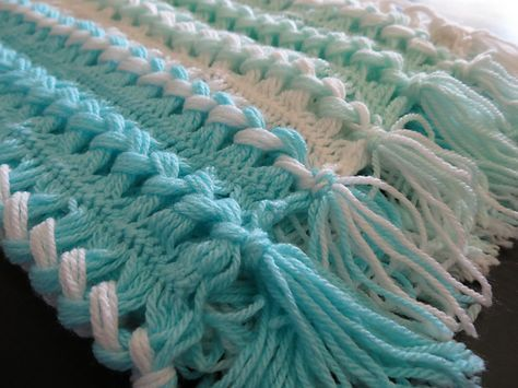 Ravelry Project Gallery For Hairpin Lace Baby Blanket Pattern By