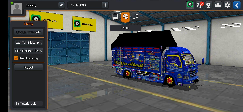 Mod Truck Wahyu Abadi Canter Terpal Segitiga Terpal Truk Besar Konsep Mobil