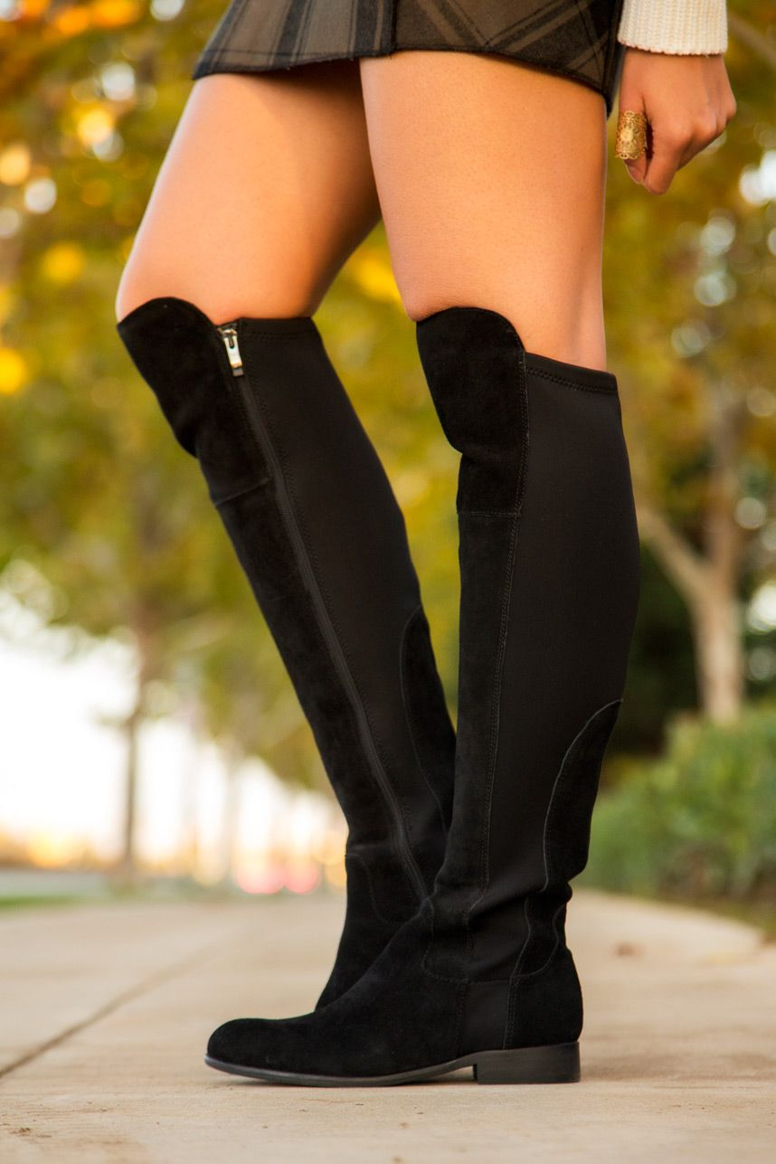 Knee flat high boots how to wear