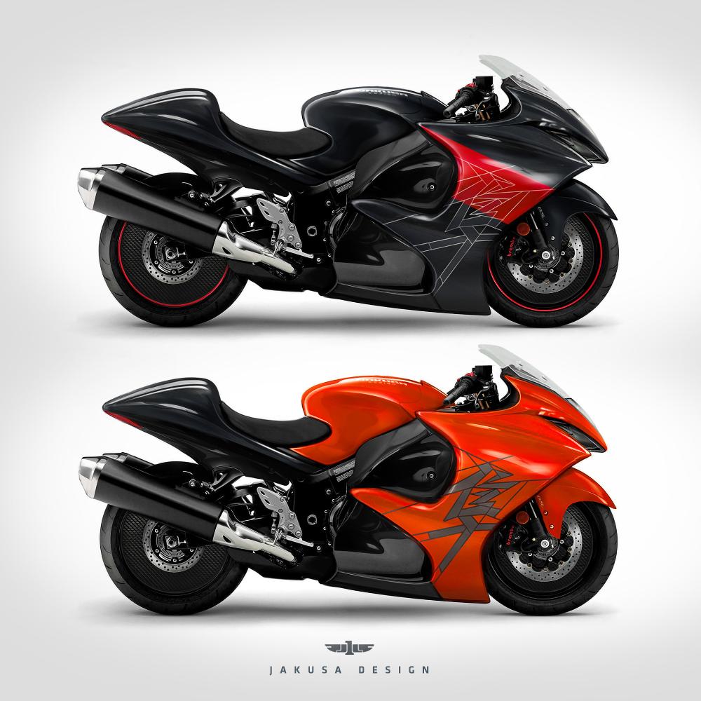Jakusa Design Blue Astore In 2020 Hayabusa Motorcycle Suzuki