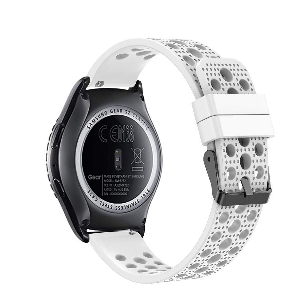 For Samsung Gear Sport Soft Silicone Sport Quick 20mm