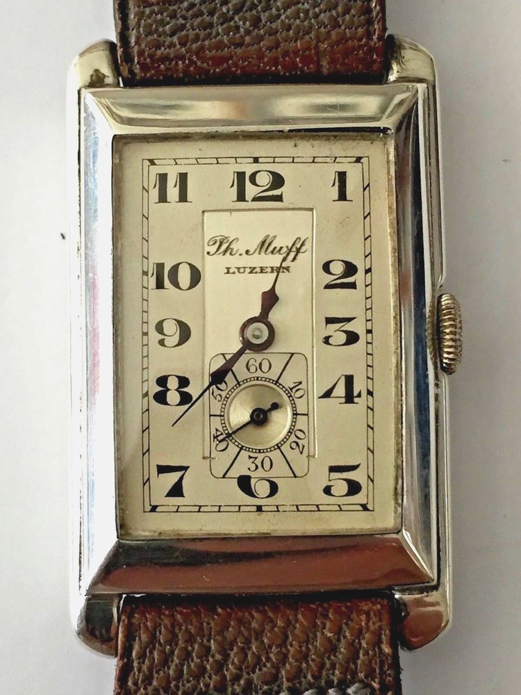 Exquisite 1930 S Wristwatch Vintage Rectangular Unworn Mint All Original Wristwatch Vintage Vintage Watches Watch Collection