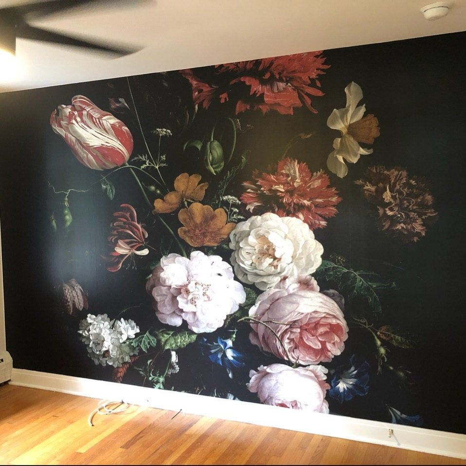 Removable Wallpaper Floral Wall Mural Peel And Stick Wallpaper