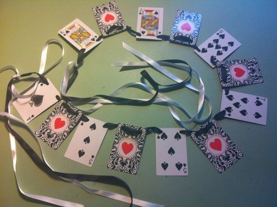 Alice In Wonderland Mad Hatter Tea Party Black Clubs Playing Cards