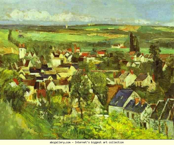 Paul Cézanne. View of Auvers. c.1874. Oil on canvas. Art Institute of Chicago, Chicago, IL, USA.