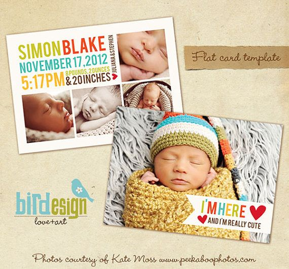 1000 images about Newborn Announcements – Birth Announcement Card Templates