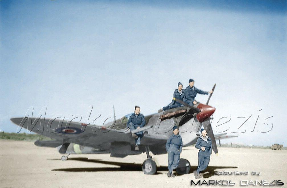 EBA - RHAF.  Supermarine Spitfire Mk.Vb. 336th (Greek) Sq.,  by Markos Danezis