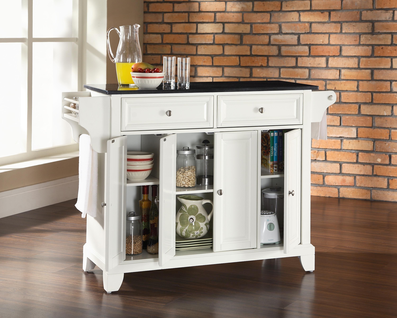 Crosley-Furniture-Newport-Solid-Black-Granite-Top-Kitchen-Island-in ...