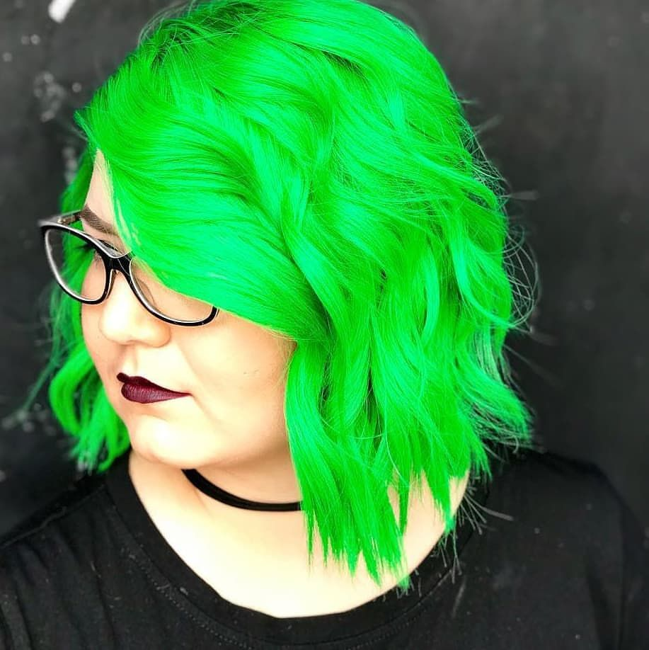 rinadeedoeshair (With images) Neon green hair