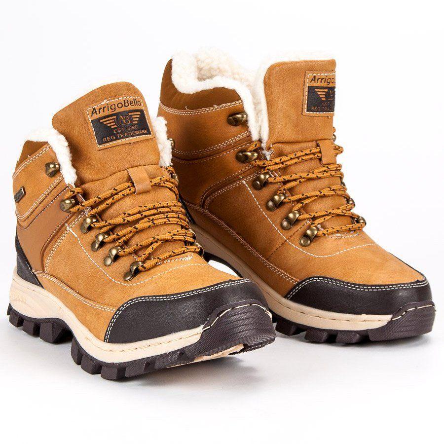 Trekkingowe Meskie Arrigobello Arrigo Bello Brazowe Traperki Z Kozuszkiem Hiking Boots Boots Shoes