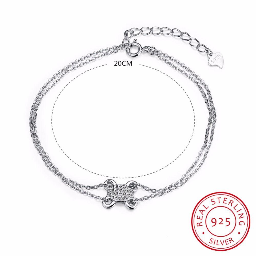 Cm long frog charm bracelets for women sterling silver jewelry