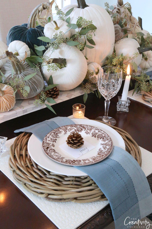 Fall Tabletop Decor Ideas Moody Monday Fall Tabletop Decor Fall Tabletop Fall Dining Room