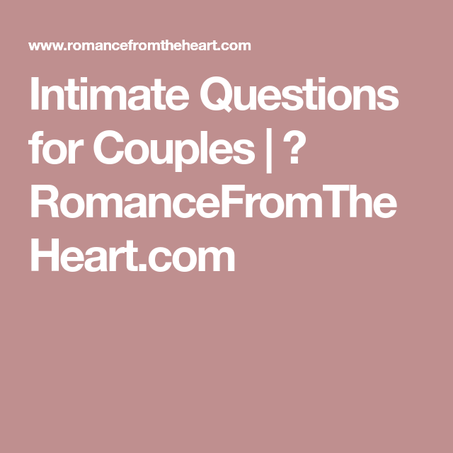 intimacy questions for couples