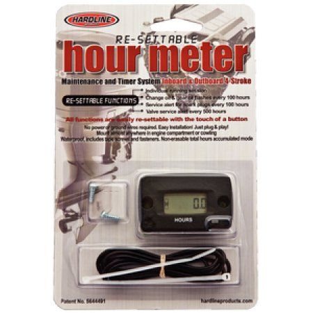 Hardline Re-Settable Hour Meter for Outboard and Inboard ... on electrostatic field meter circuit diagram, hour meter motor, hour meter hook up, ct transformer connection diagram, water meter installation diagram, standard power transformer connection diagram, hour meter switch, electrical transformer diagram, hour meter honda, hour meter generator, hour meter installation,