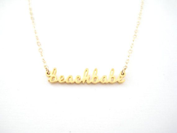 Beach Babe Necklace 1004 Summer Jewelry Beach Babe Necklace