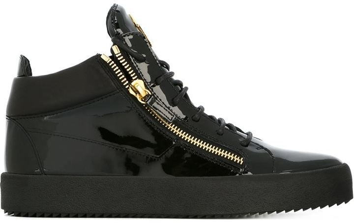 Giuseppe Zanotti Design zip detail hi-top sneakers  7fb888e55e4