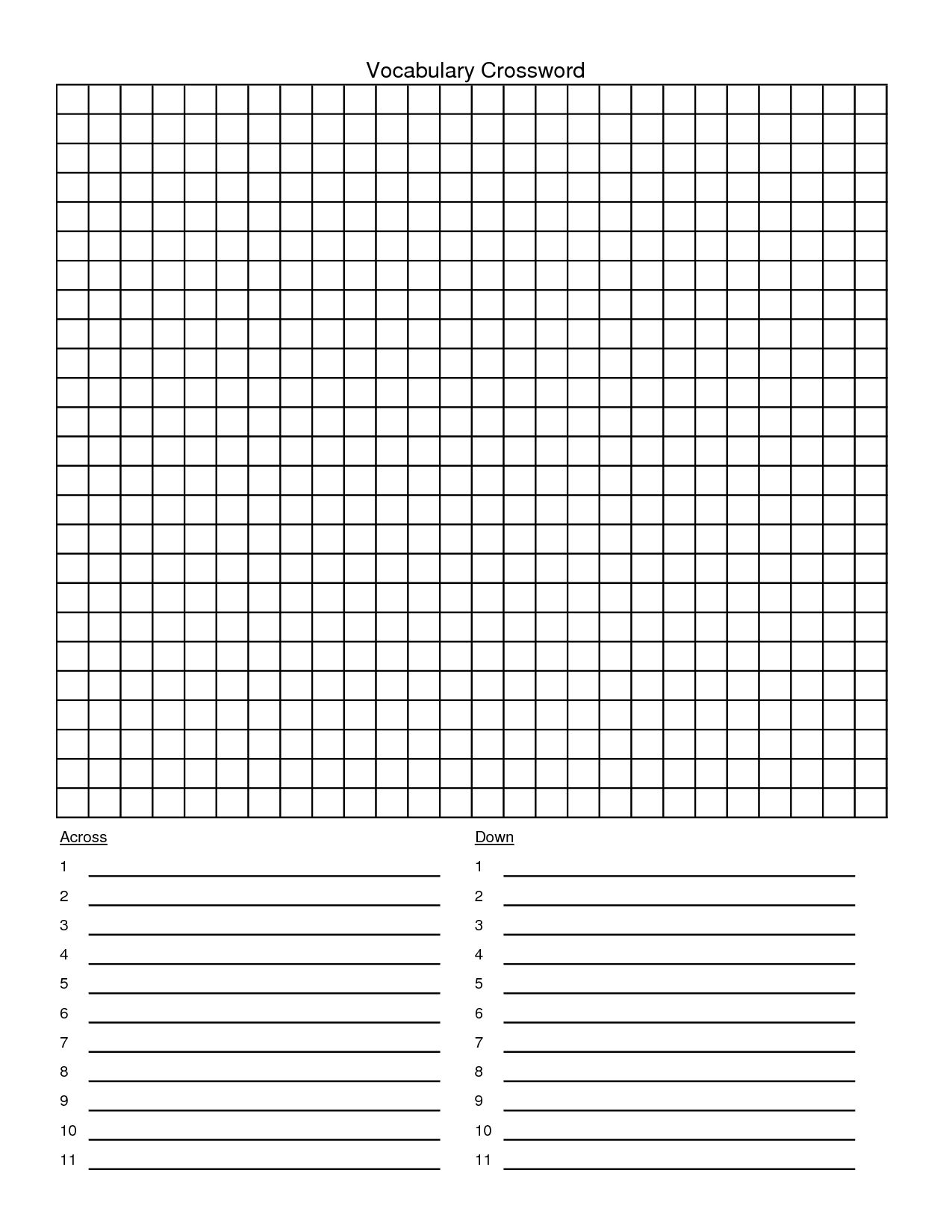 Blank Crossword Puzzle Template Templates Printable Free Intended For Word Sleuth Template Templates Printable Free Word Wall Template Crossword Puzzle Maker