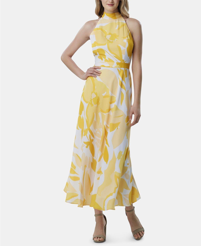 Tahari Asl Printed Halter Neck Maxi Dress Reviews Dresses Women Macy S Charmeuse Dress A Line Maxi Dress Maxi Dress [ 1500 x 1230 Pixel ]