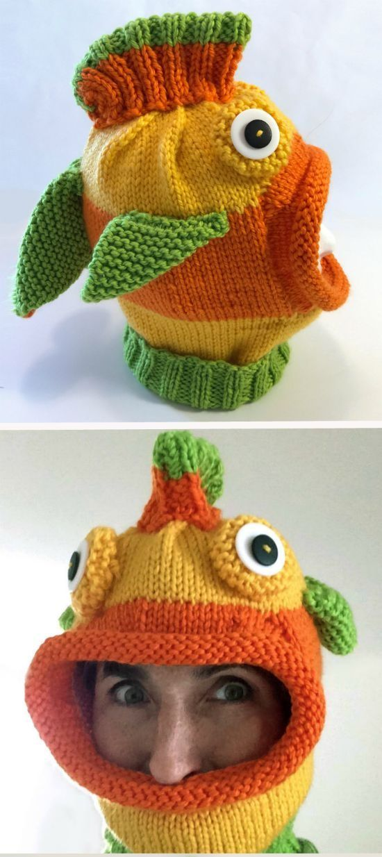 Knitted Fish Hat Patterns Fish Crochet And Knit Hats