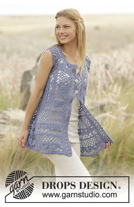 178-29 Forever Lace - free crochet top pattern with charts by DROPS design. Multiple languages.