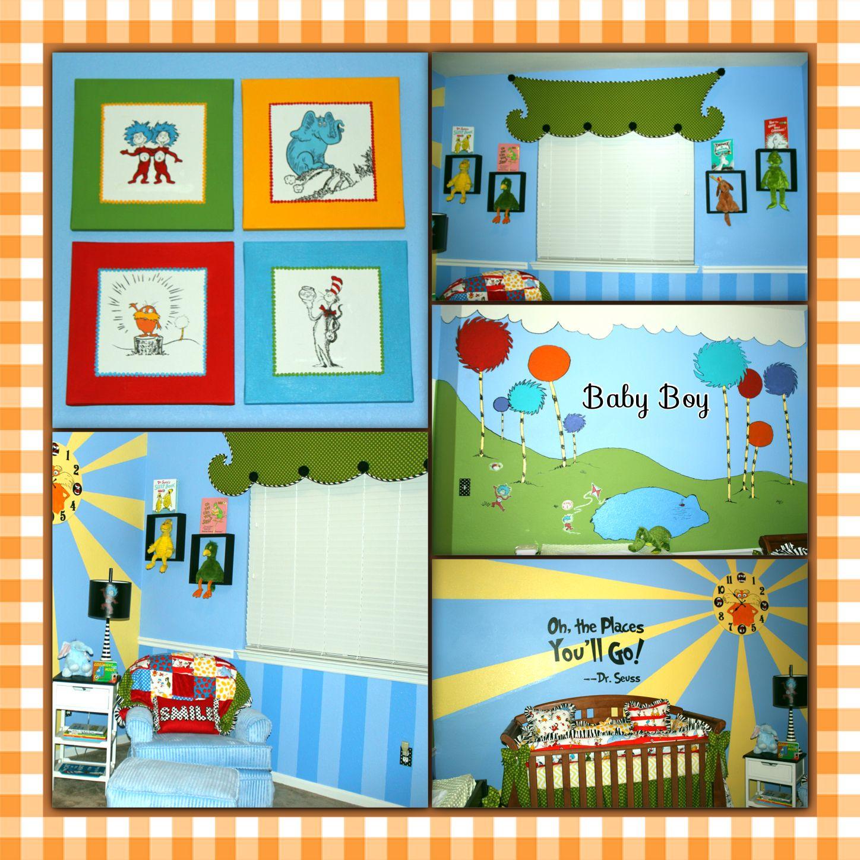 Dr seuss nursery nursery ideas pinterest the o 39 jays for Dr seuss mural nursery