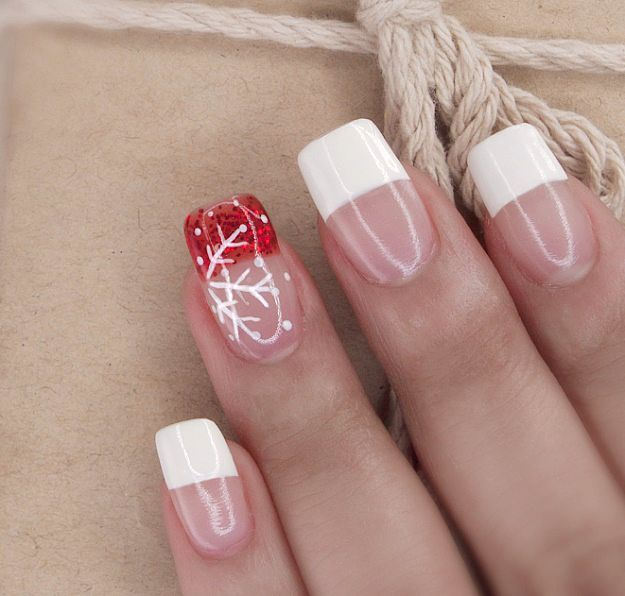 13 Snowflake Nail Art Designs For Winter - 13 Snowflake Nail Art Designs For Winter Snowflake Nail Art