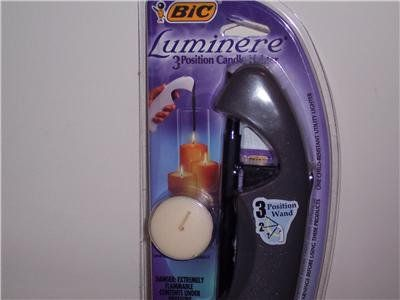 NEW in Package! 6 Count BIC Luminere 3 Position Candle Lighter (Gray)!