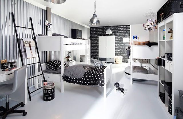 Zwart Wit Kinderslaapkamer : Zwart wit kinderkamer black and white kids room the boo and the