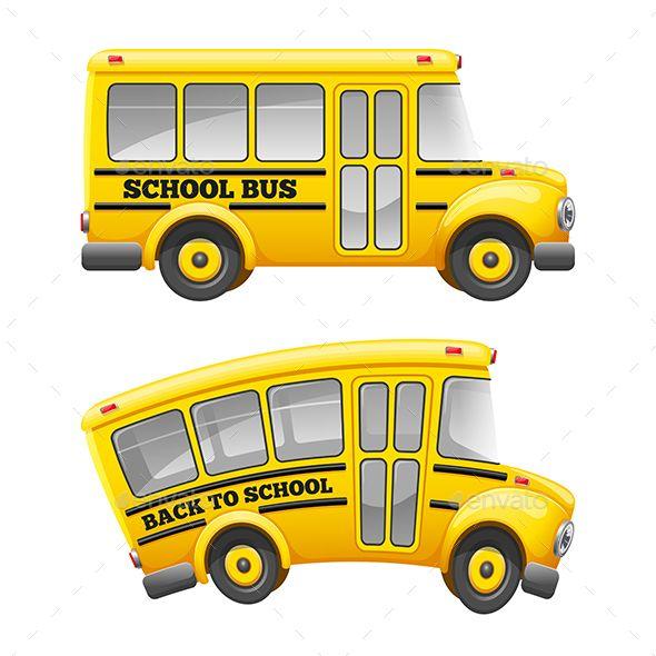 Retro School Bus Cartoon School Bus Retro School School Bus