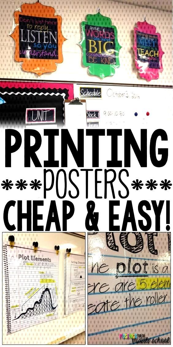Printing a Poster  the Cheapskate Way! High school classroom, Classroom, Resource classroom, Midd