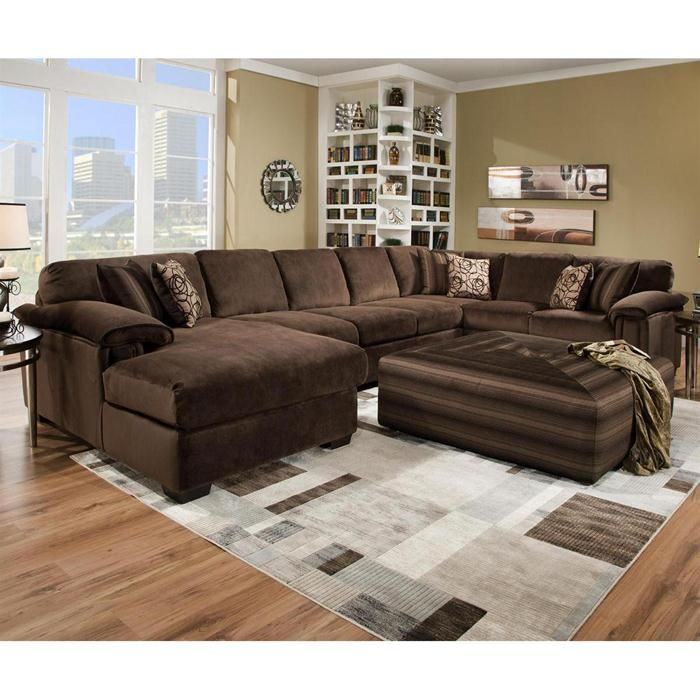 fancy oversized sectional couch brown